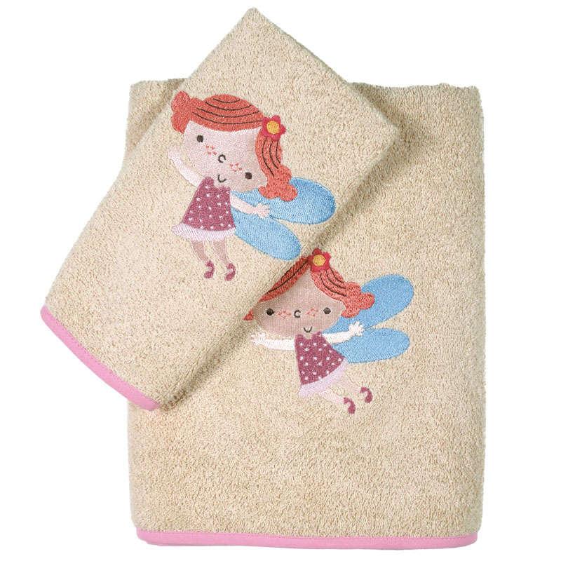 Πετσέτες Βρεφικές Σετ Κεντητές 2τμχ 6558 Baby Smile Embroidery Somon Das Baby Σετ Πετσέτες 70x140cm