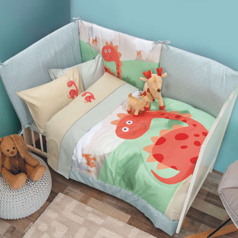 Σεντόνια Βρεφικά Σετ 6559 Baby Smile Embroidery Beige-Grey Das Baby Κούνιας 120x160cm
