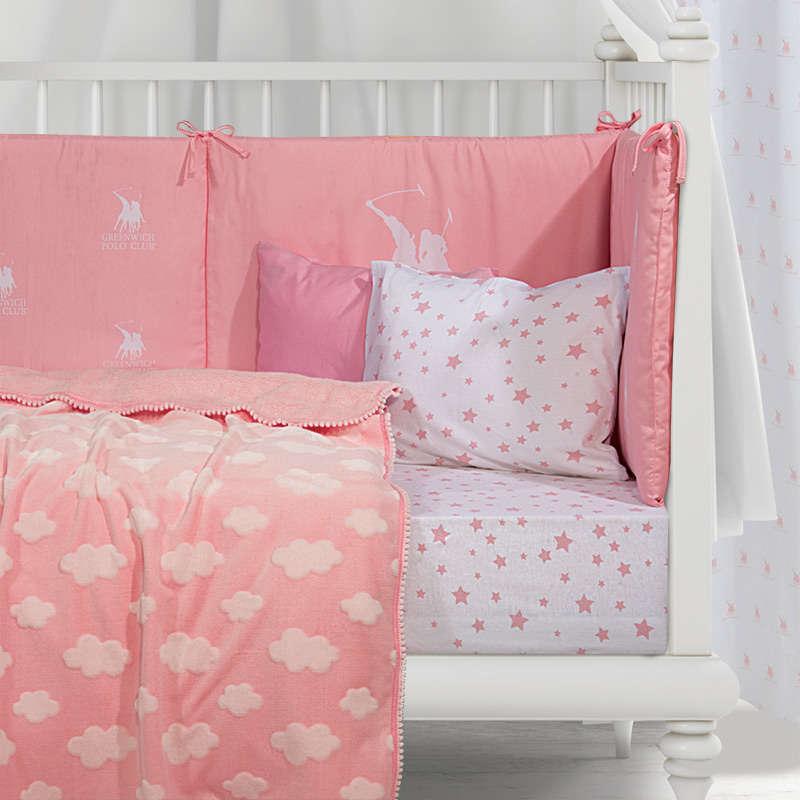 Κουβέρτα Βρεφική Fleece 2990 Pink G.P.C. Κούνιας 110x140cm