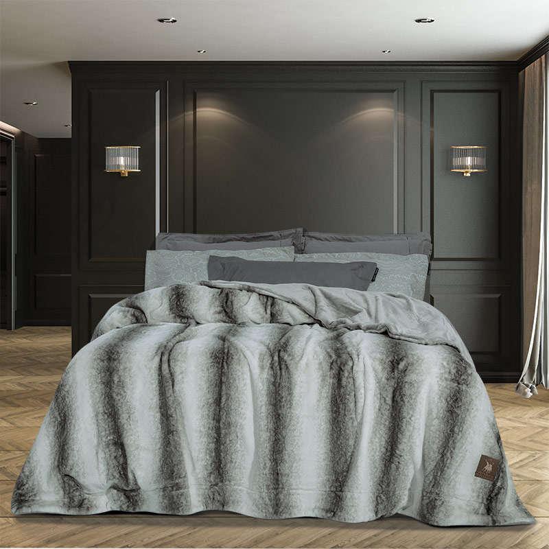 Κουβέρτα Γούνινη 2445 Grey G.P.C. Υπέρδιπλo 220x240cm