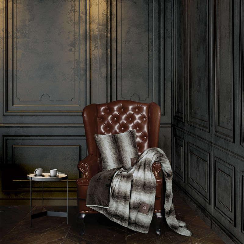 Κουβέρτα Καναπέ 2446 Brown G.P.C. 150X180 130x160cm