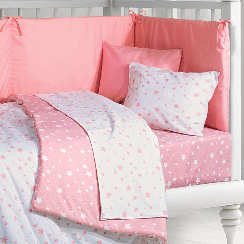 Σεντόνια Βρεφικά Σετ 2921 Pink G.P.C. Κούνιας 120x160cm