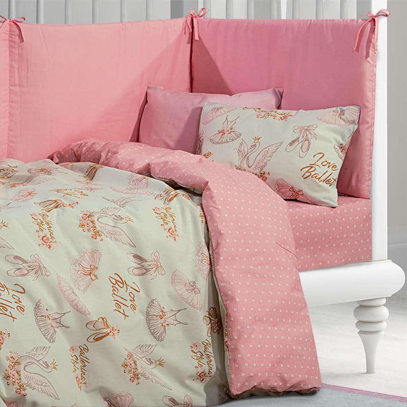Σεντόνια Βρεφικά Σετ 2924 Pink -Mint G.P.C. Κούνιας 130x170cm