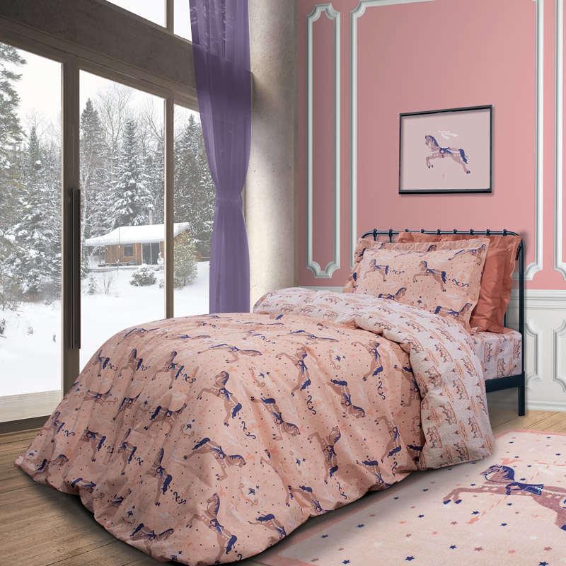 Σεντόνια Παιδικά Σετ 2923 Purple-Pink G.P.C. Μονό 170x260cm