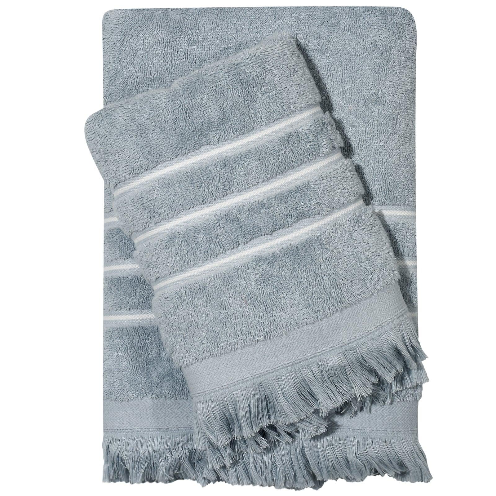 Πετσέτες Σετ 3τμχ 0418 Best Light Blue Das Home Σετ Πετσέτες