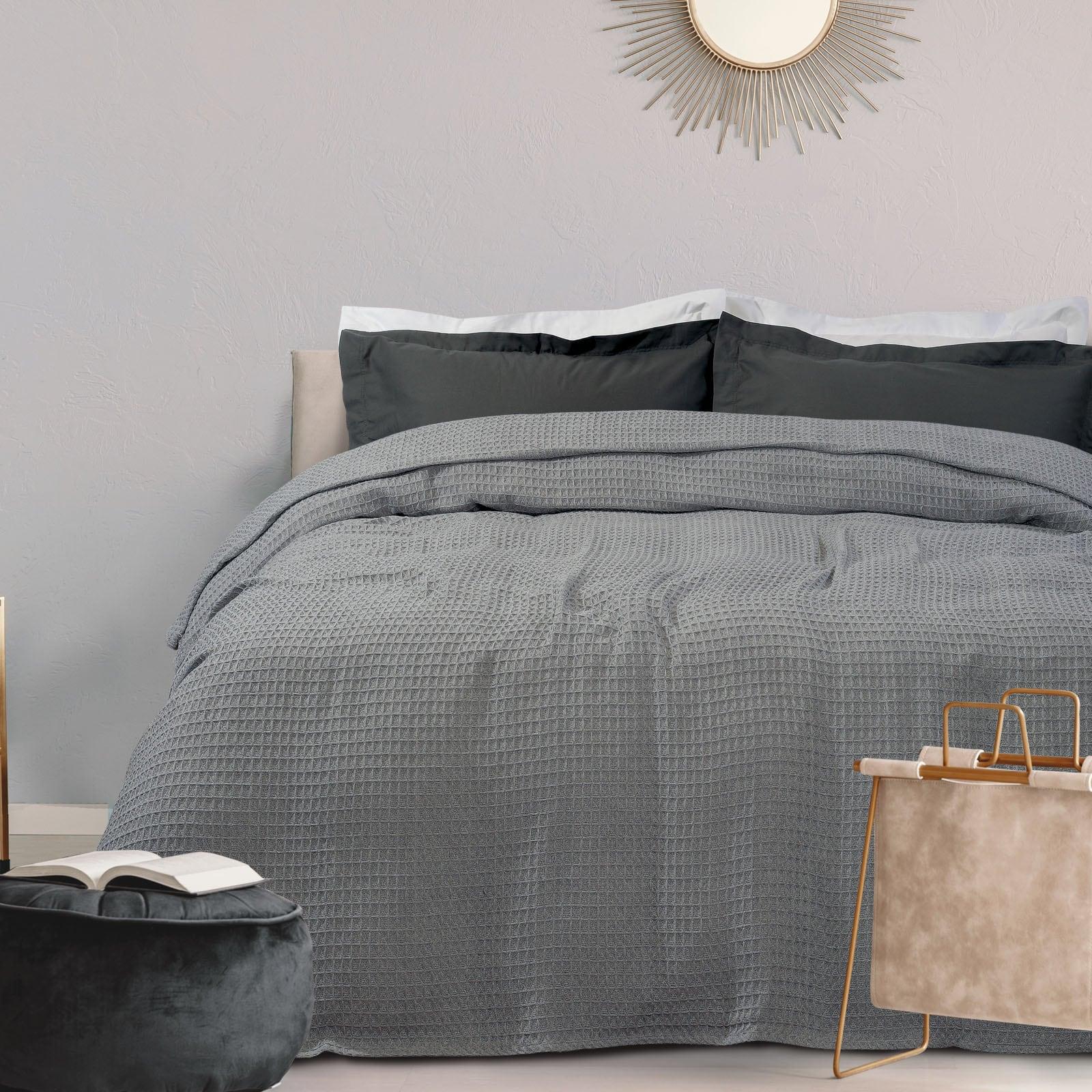 Κουβέρτα Πικέ 0438 Light Grey Das Home Υπέρδιπλo 230x250cm