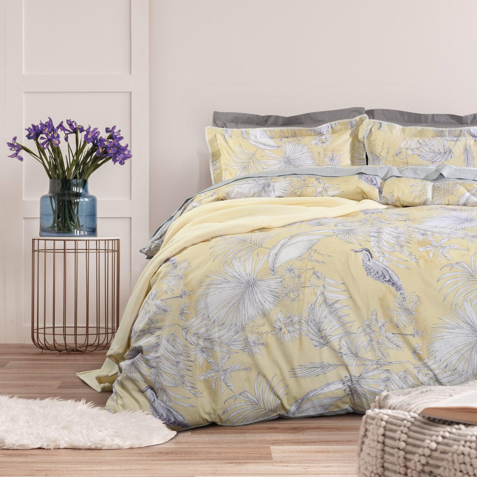 Σεντόνια Σετ 4τμχ 1622 Prestige Yellow-Grey Das Home Υπέρδιπλo 230x260cm