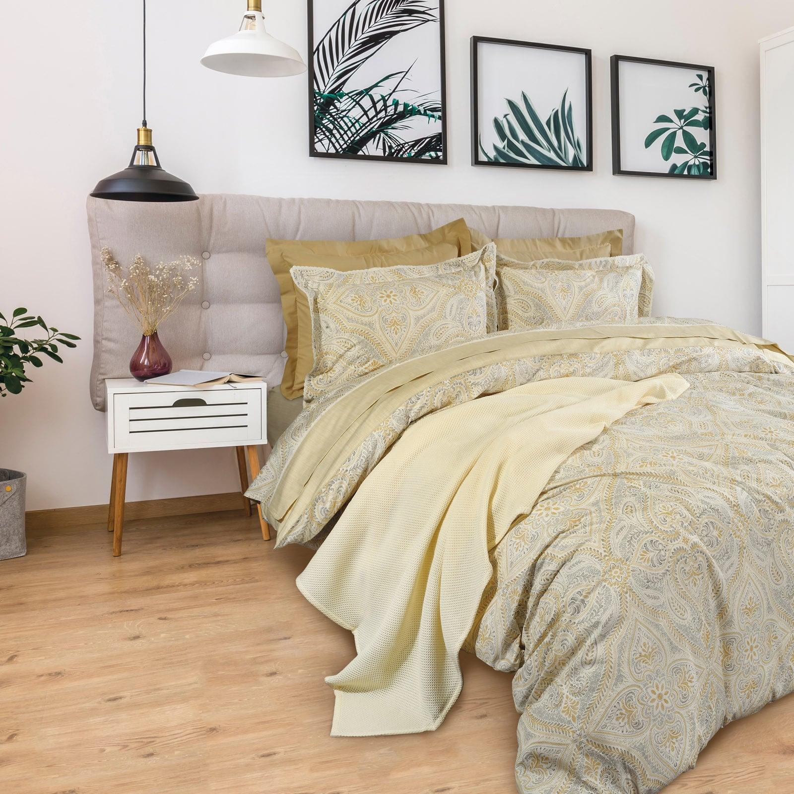Σεντόνια Σετ 4τμχ 1624 Prestige Yellow-Beige Das Home Υπέρδιπλo 230x260cm