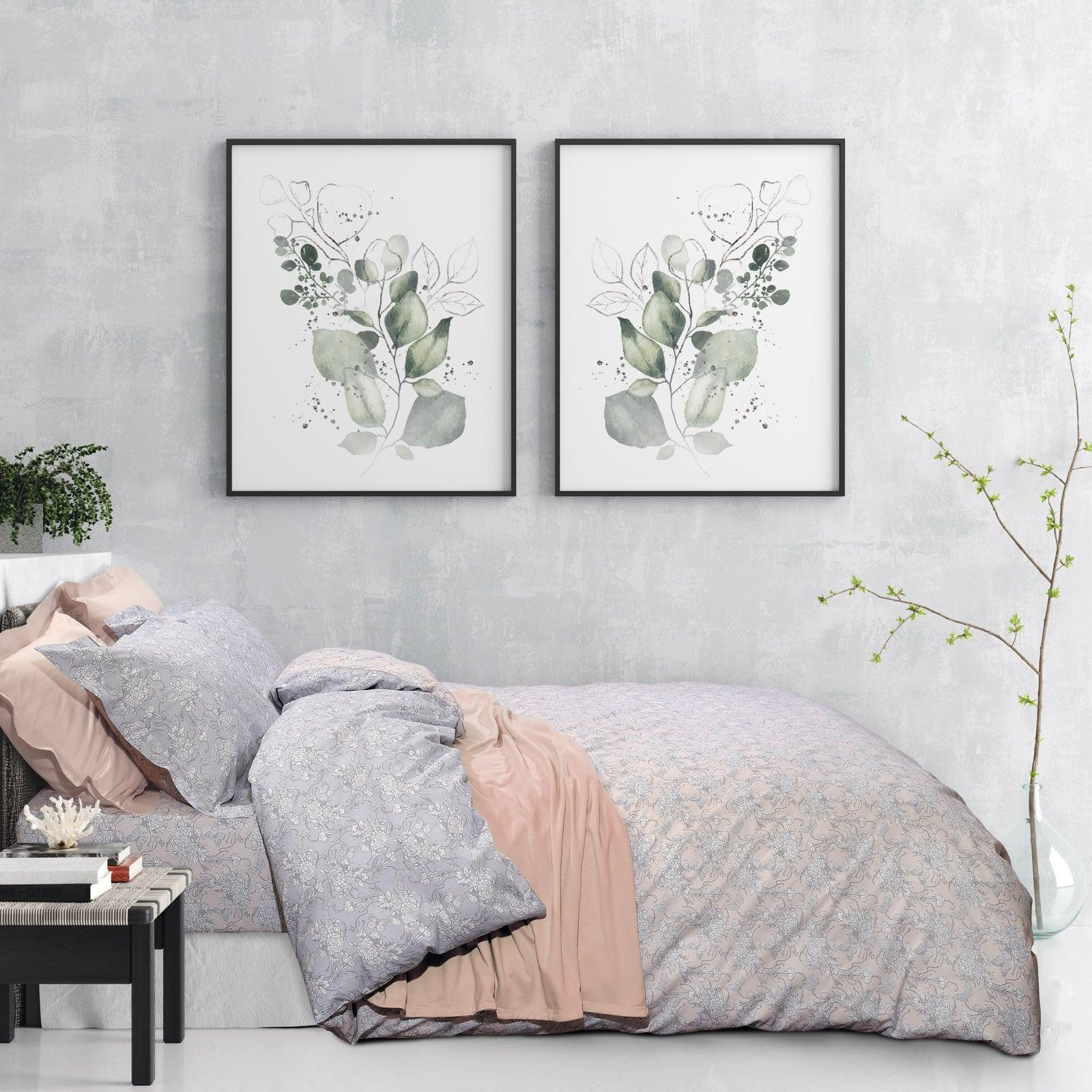 Σεντόνια Σετ 4τμχ 9478 Happy Grey-Nude Das Home King Size 260x280cm