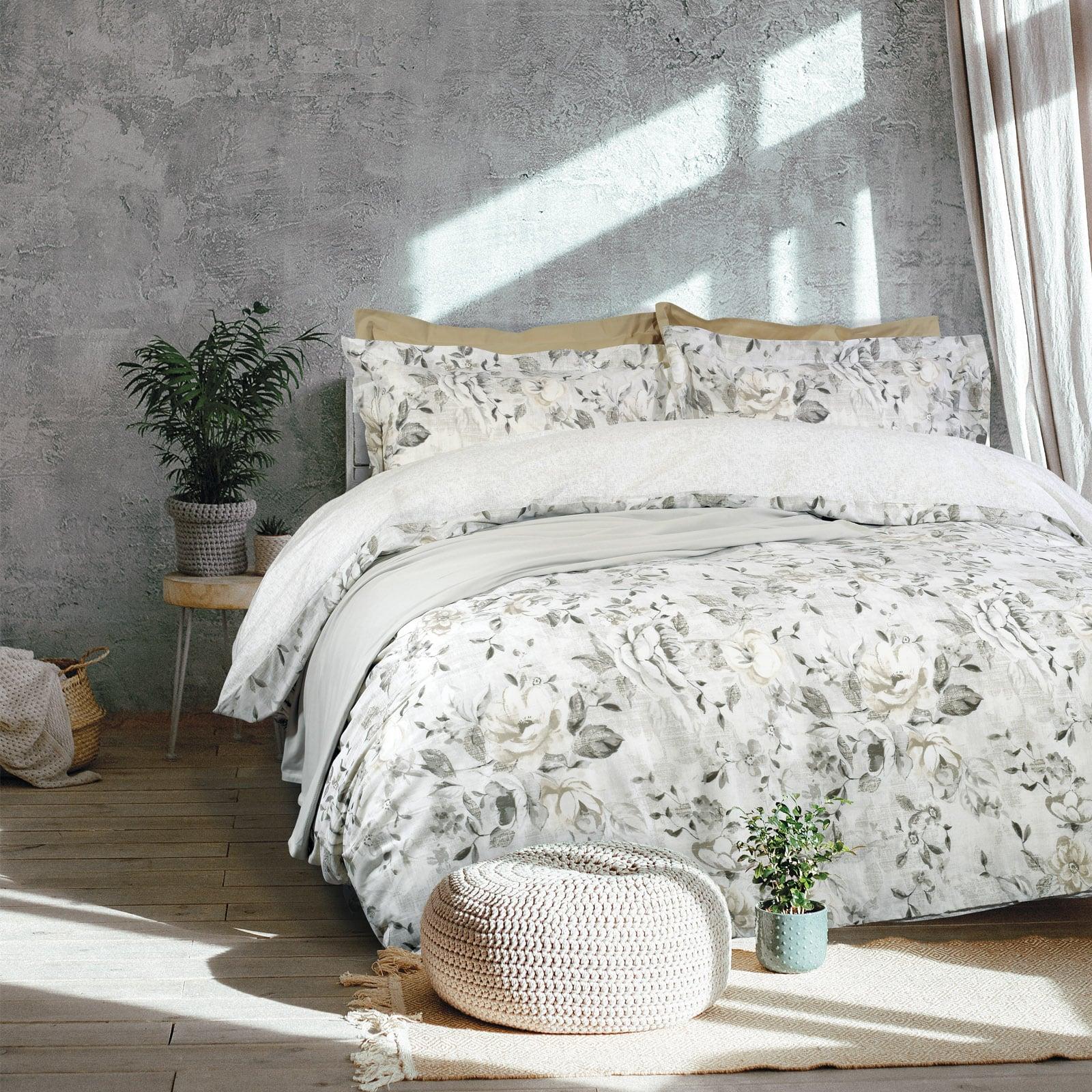 Σεντόνια Σετ 4τμχ Με Λάστιχο 9486 Happy Grey Das Home Υπέρδιπλo 170x235cm