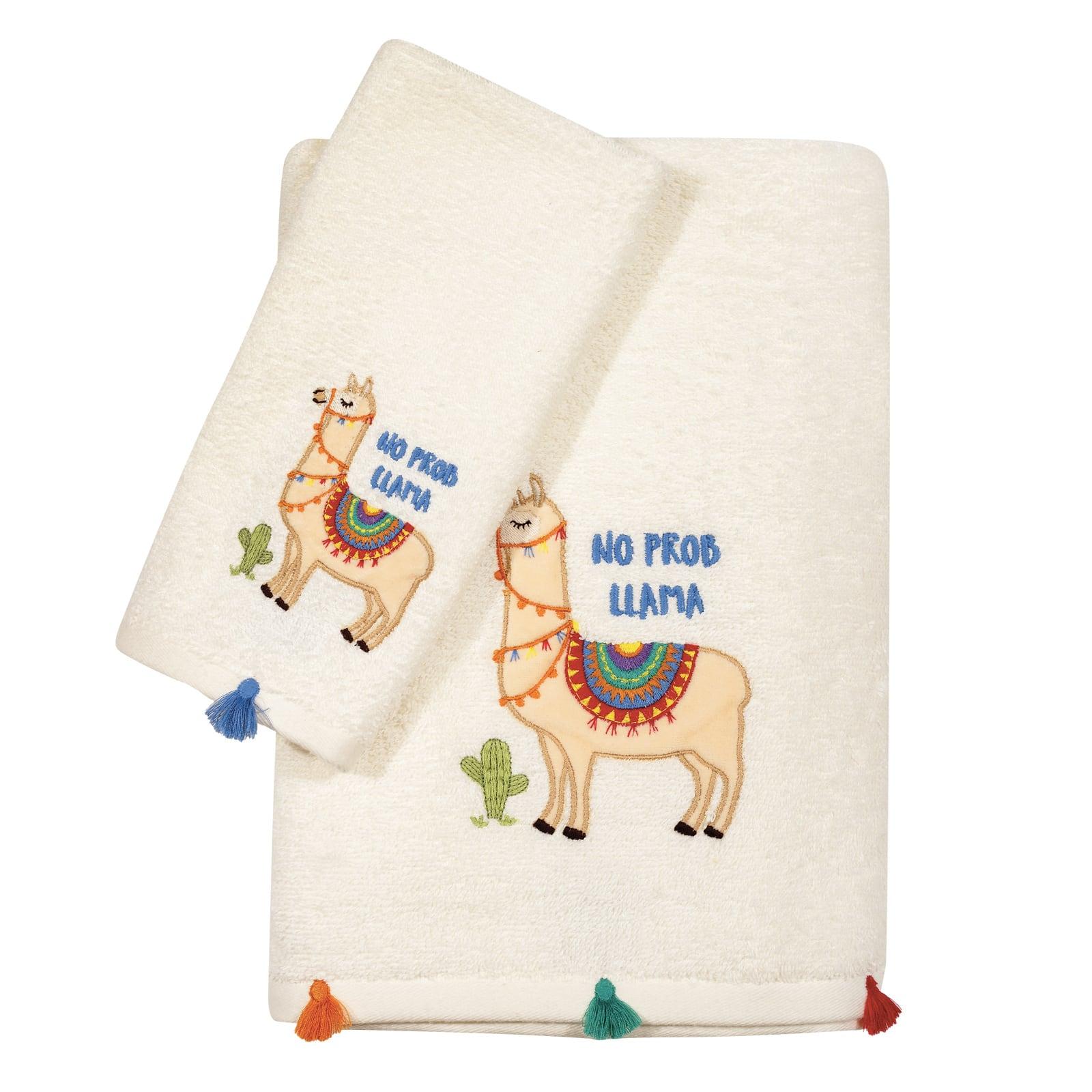 Πετσέτες Βρεφικές Κεντητές 6571 Σετ 2τμχ Baby Fun Embroidery White-Beige Das Baby Σετ Πετσέτες 70x140cm