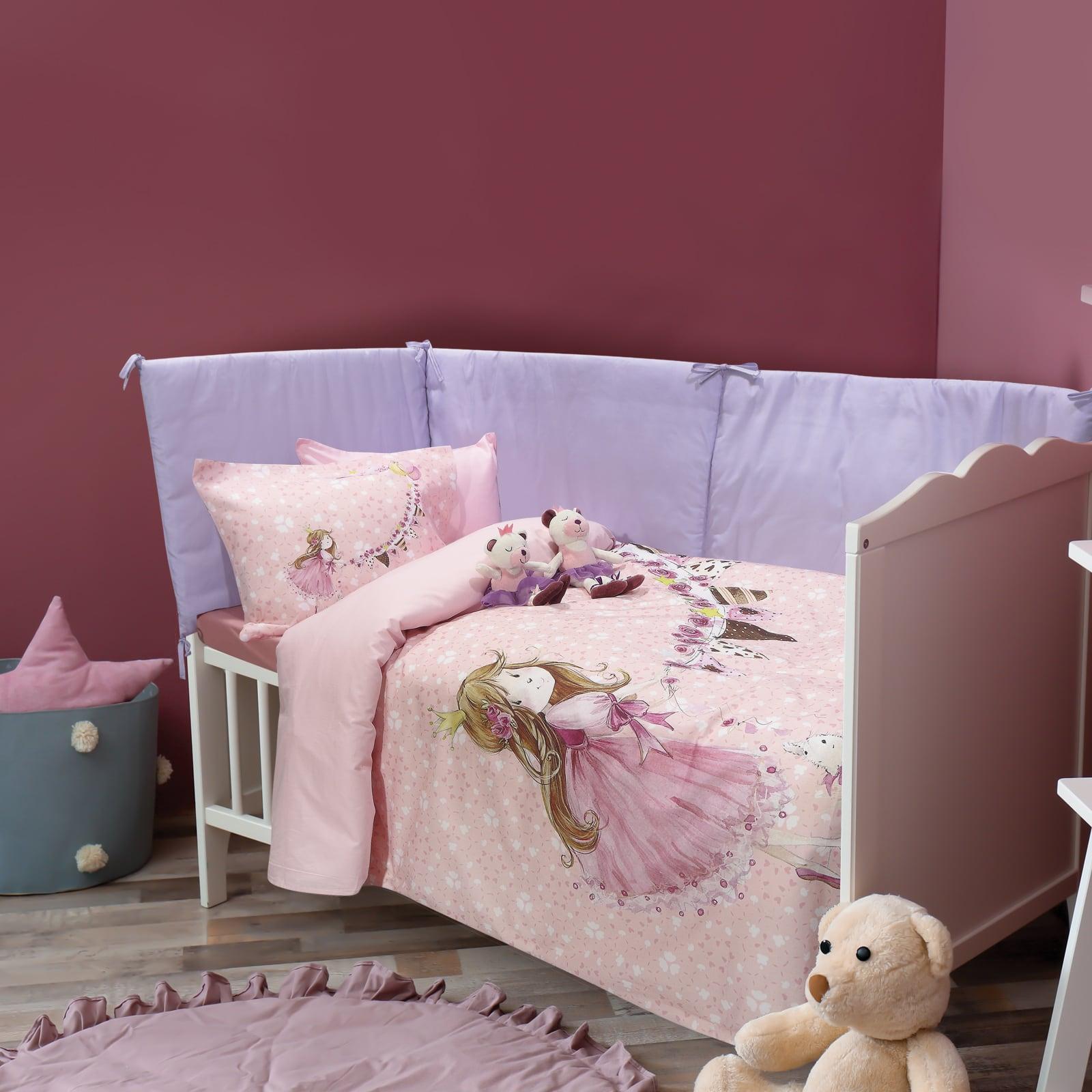 Σεντόνια Βρεφικά 6576 Σετ 3τμχ Baby Smile Digital Pink Das Baby Κούνιας 125x170cm