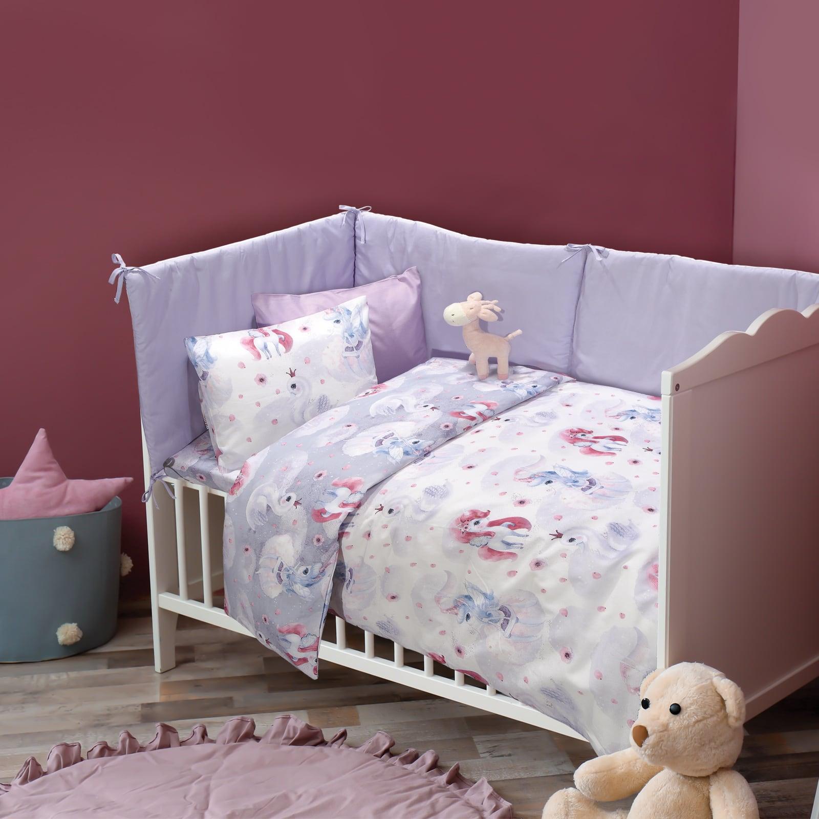 Σεντόνια Βρεφικά 6570 Σετ 3τμχ Baby Fun Pink-Lila Das Baby Κούνιας 130x170cm