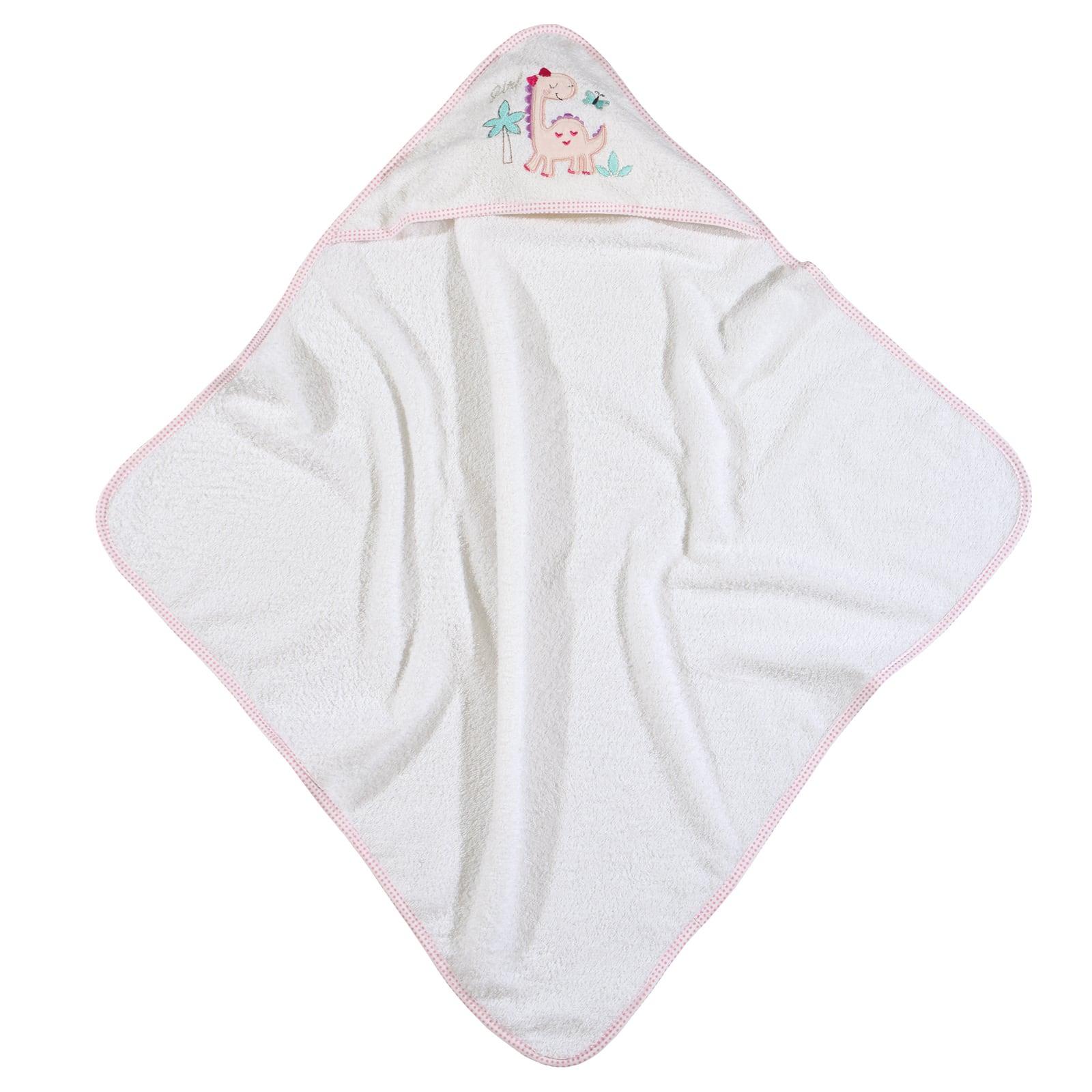 Κάπα Βρεφική 6572 Baby Smile Embroidery White-Pink Das Baby 0-2 ετών 75x75cm