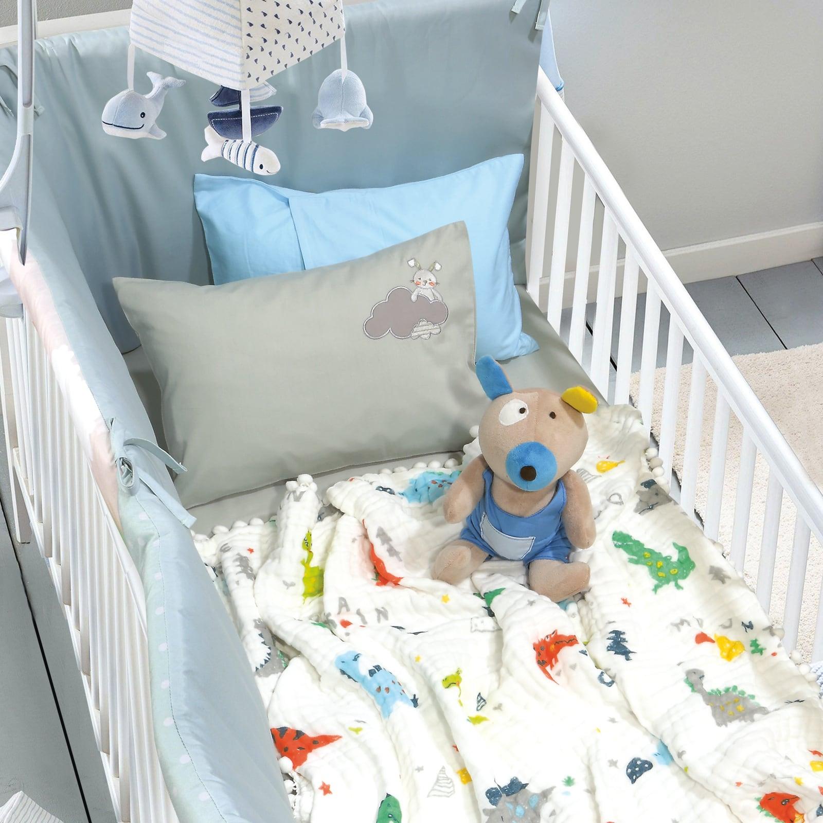 Κουβέρτα Βρεφική Μουσελίνα 6588 Relax Multi Das Baby Αγκαλιάς 80x110cm
