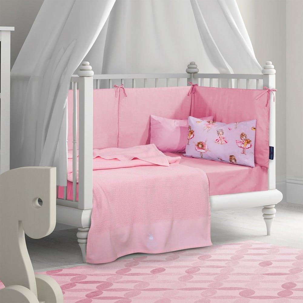 Κουβέρτα Βρεφική 2963 Pink G.P.C. Κούνιας 110x150cm