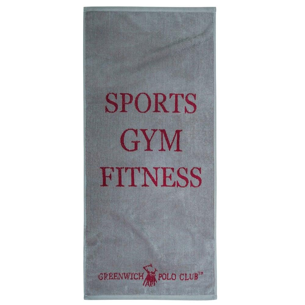 Πετσέτα Γυμναστηρίου 2559 Grey-Red G.P.C. Γυμναστηρίου 45x90cm