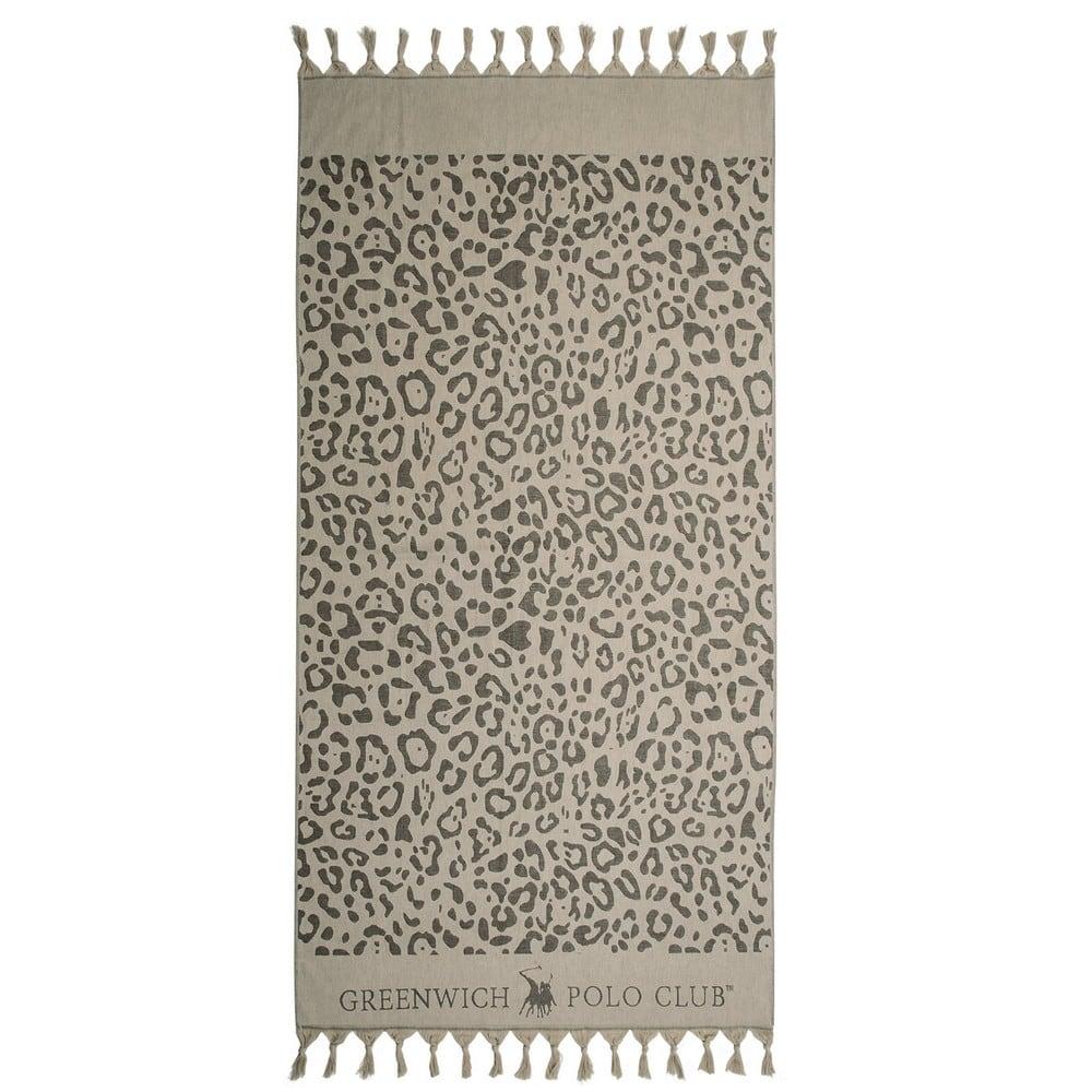 Πετσέτα Θαλάσσης – Παρεό 2884 Ecru-Black G.P.C. Θαλάσσης 90x170cm