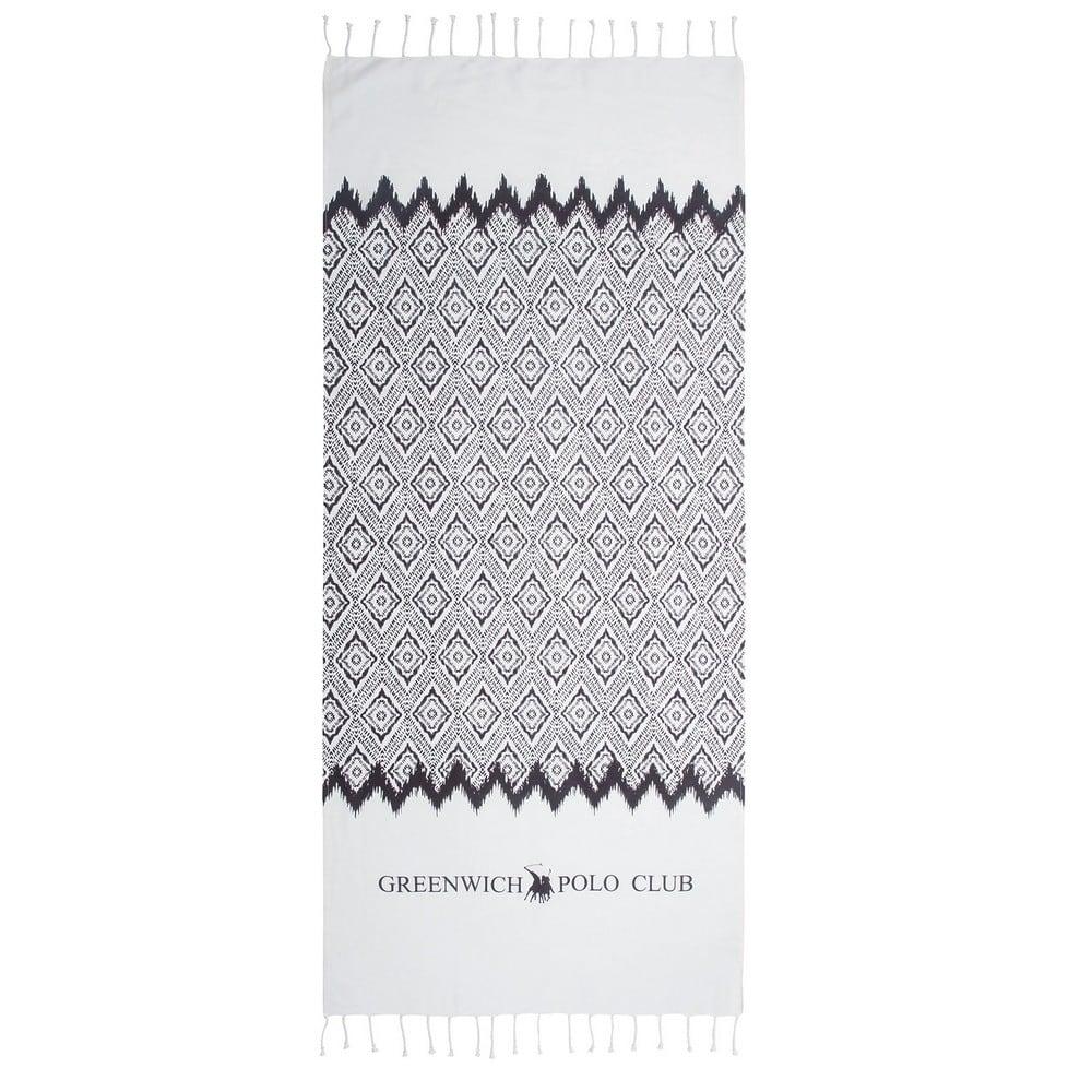 Πετσέτα Θαλάσσης – Παρεό 3533 Black-White G.P.C. Θαλάσσης 80x180cm