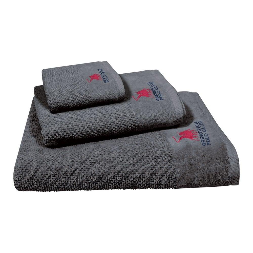 Πετσέτες 2541 Σετ 3τμχ Grey G.P.C. Σετ Πετσέτες