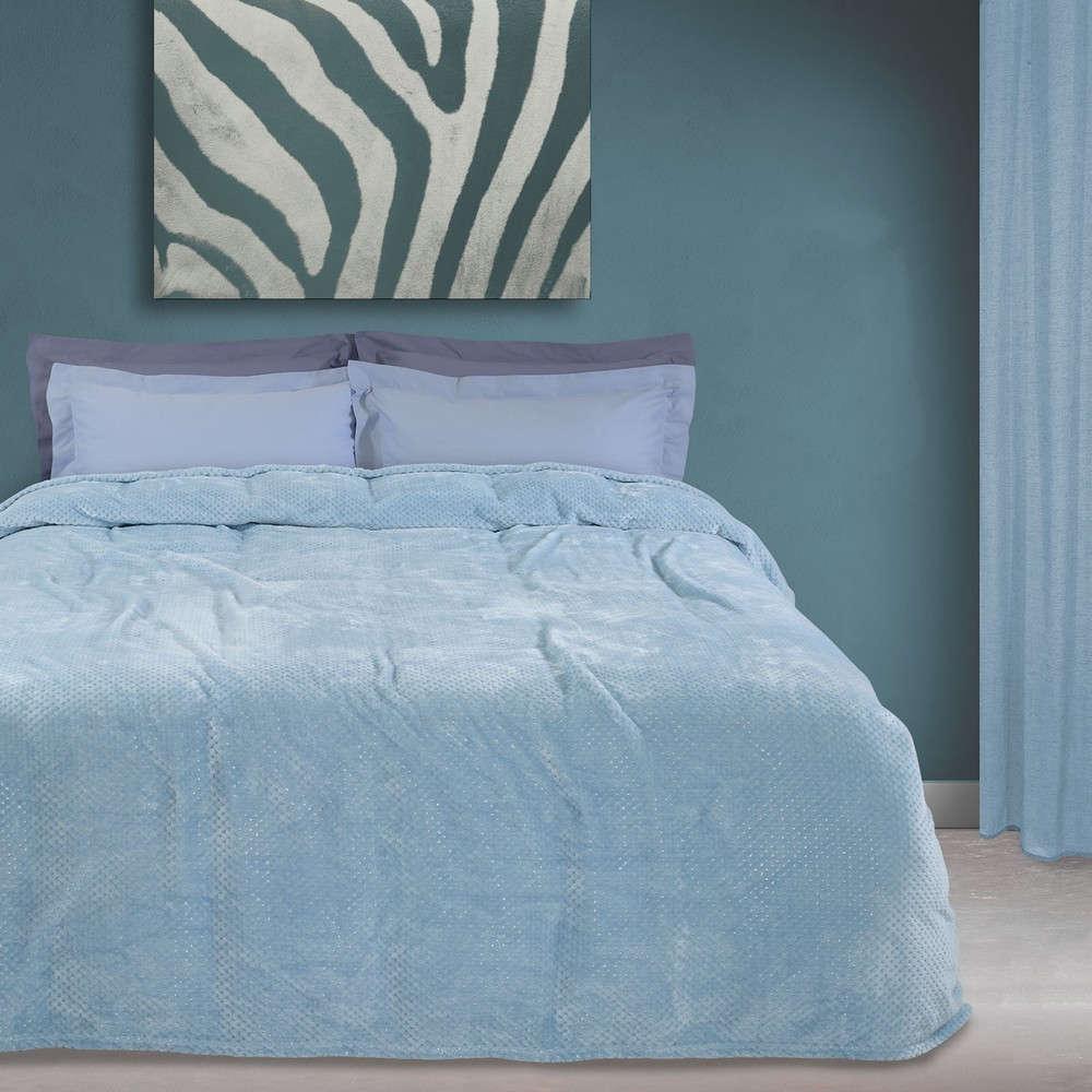Κουβέρτα Fleece 0441 Blue Das Home Υπέρδιπλo 220x240cm