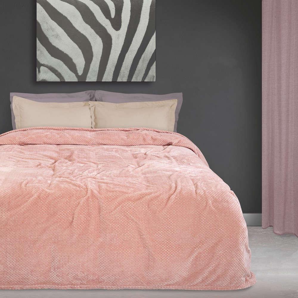 Κουβέρτα Fleece 0442 Pink Das Home Μονό 160x220cm