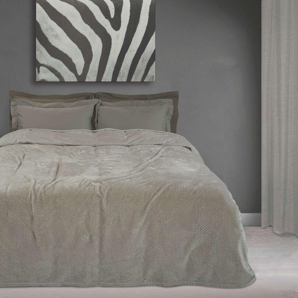 Κουβέρτα Fleece 0443 Grey Das Home Υπέρδιπλo 220x240cm