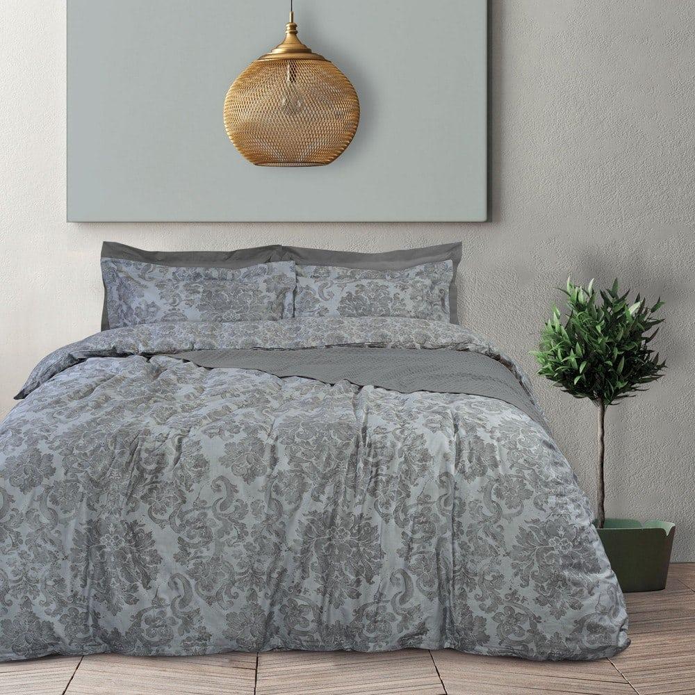 Παπλωματοθήκη 4744 Best Σετ 3τμχ Grey Das Home Υπέρδιπλo 220x240cm