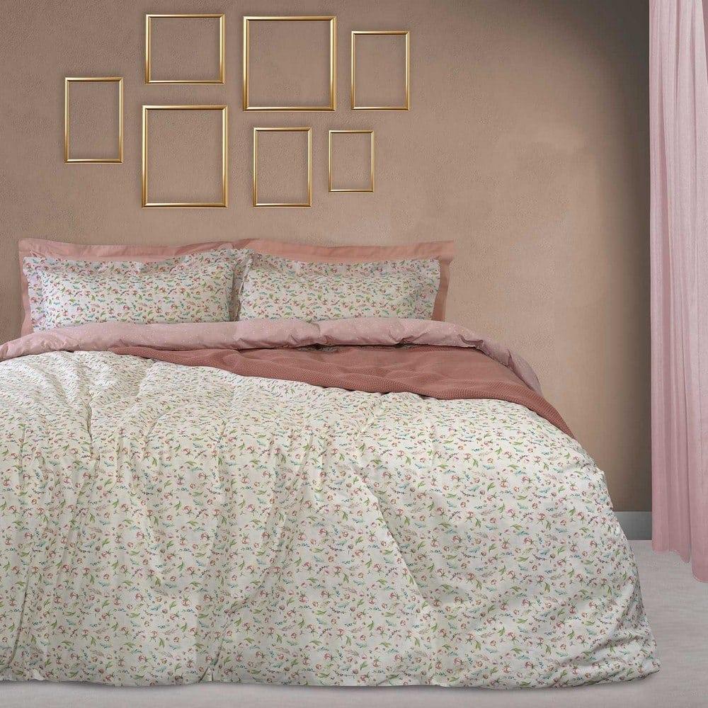 Παπλωματοθήκη 9499 Happy Σετ 2τμχ Cream-Pink-Green Das Home Μονό 160x240cm