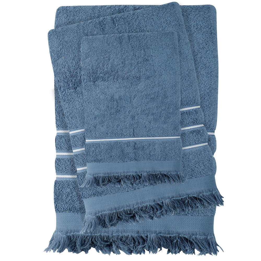 Πετσέτες Σετ 3τμχ 0428 Best Blue Das Home Σετ Πετσέτες 70x140cm
