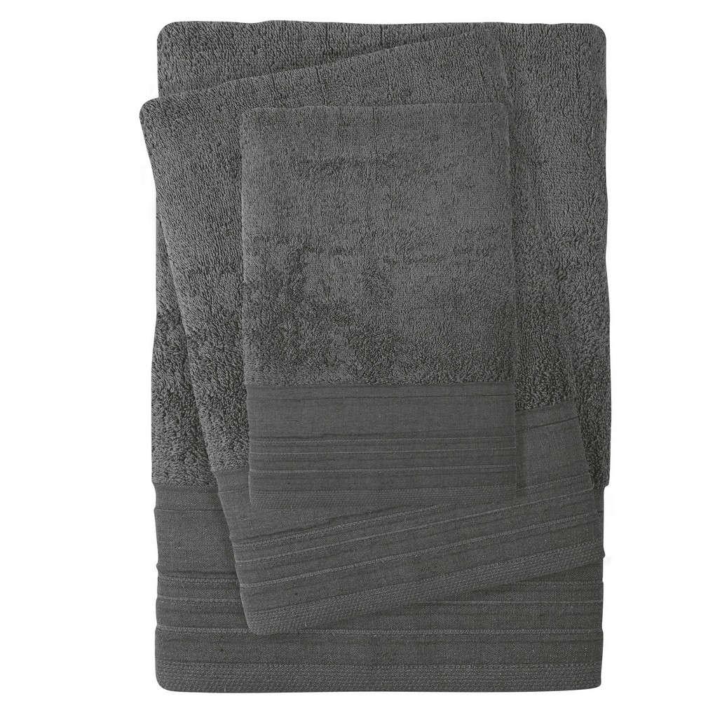 Πετσέτες Σετ 3τμχ 0432 Best Graphite Das Home Σετ Πετσέτες 70x140cm