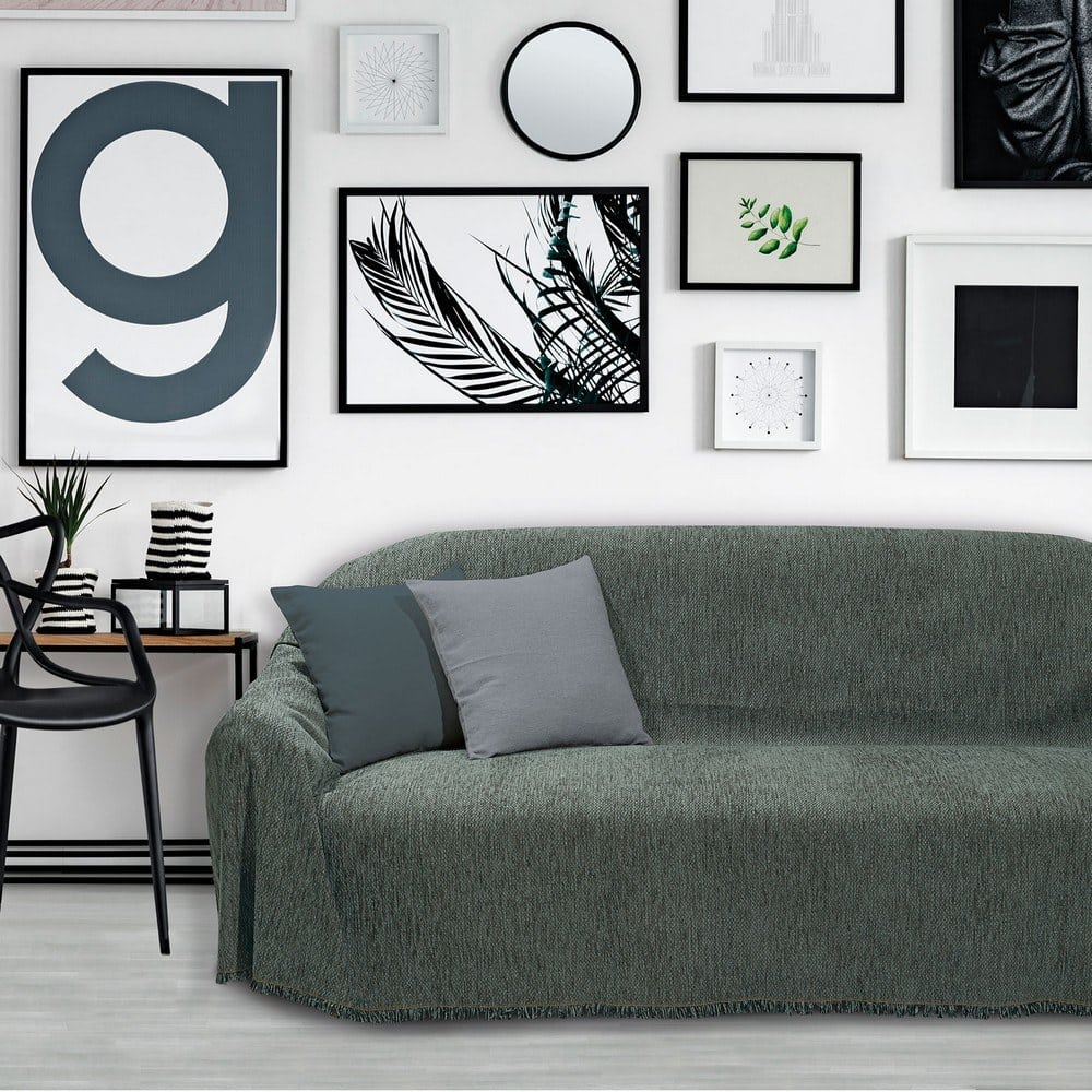 Ριχτάρι 0200 Dark Grey Das Home Τριθέσιο 180x300cm