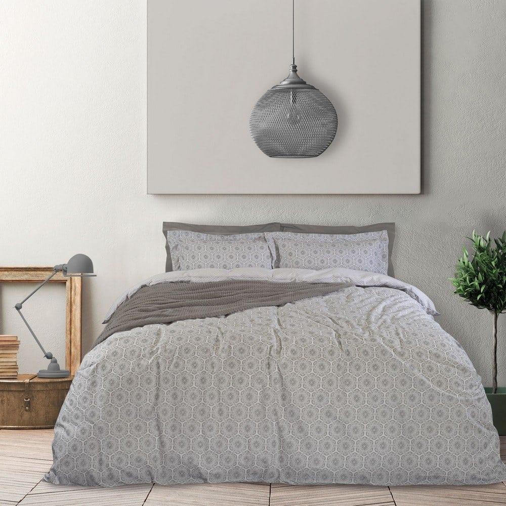 Σεντόνια 9503 Happy Σετ 4τμχ Με Λάστιχο Grey Das Home Ημίδιπλο 150x235cm