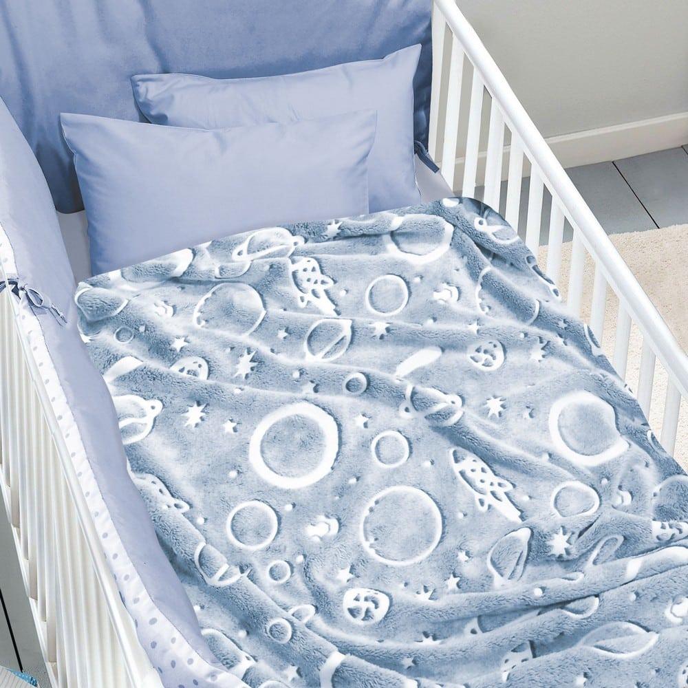 Κουβέρτα Βρεφική Fleece 4737 Relax Grey-Ecru Das Home Αγκαλιάς 80x110cm