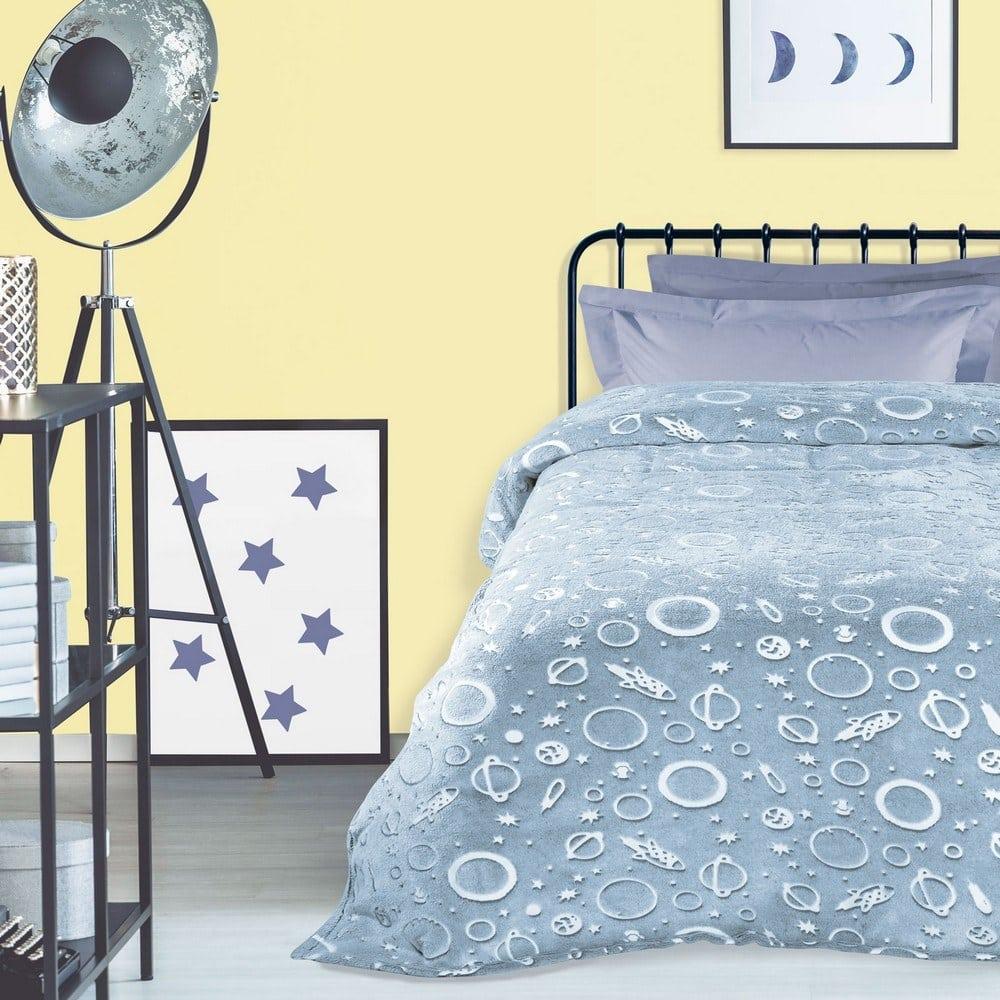 Κουβέρτα Παιδική 4737 Fleece Grey-Ecru Das Home Μονό 160x220cm