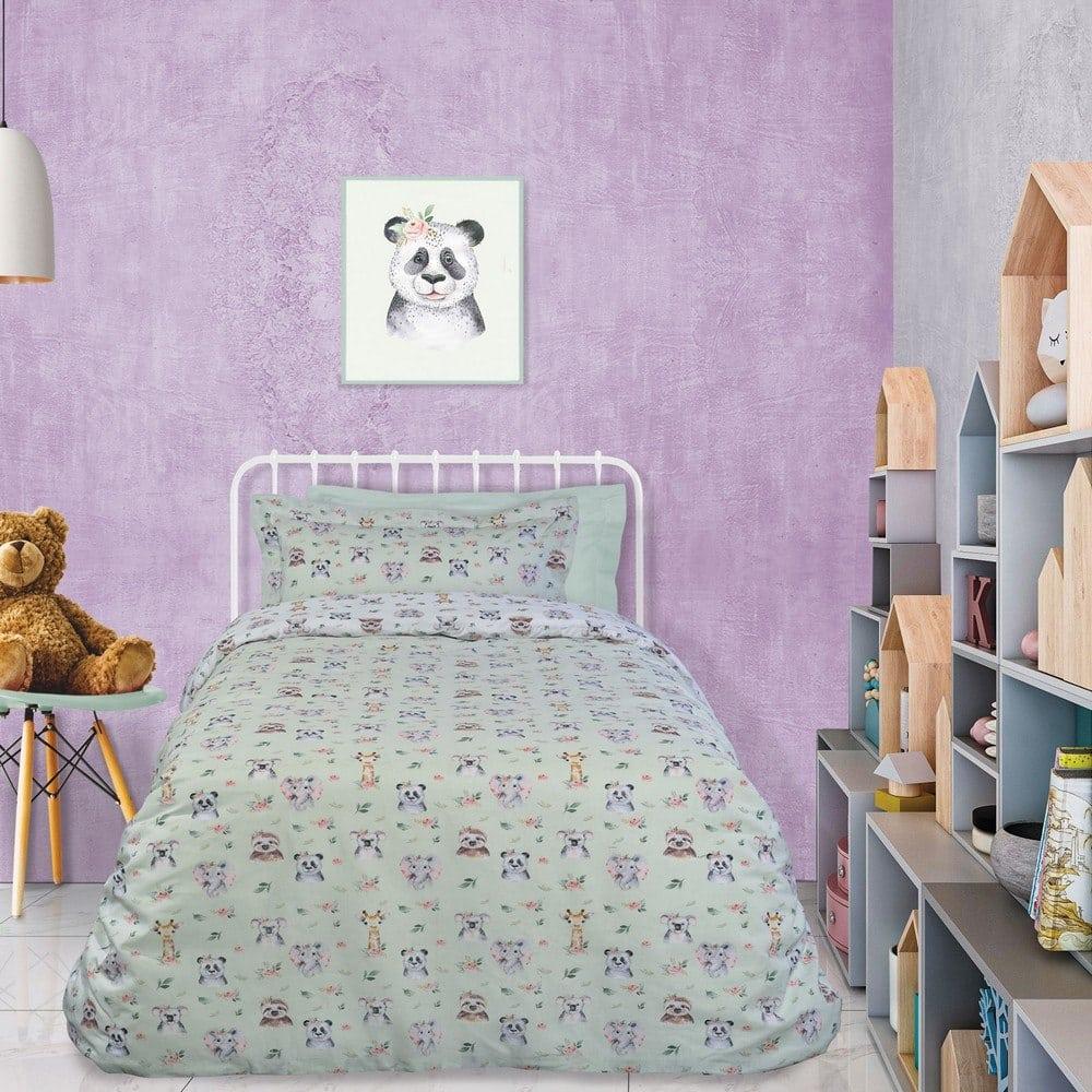 Πάπλωμα Παιδικό 4739 Mint-Beige-Somon Das Home Μονό 160x240cm