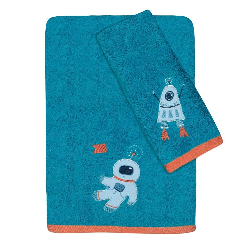 Πετσέτες Βρεφικές 4729 Κεντητές Σετ 2τμχ Baby Fun Emb Petrol-Orange Das Home Σετ Πετσέτες 70x140cm