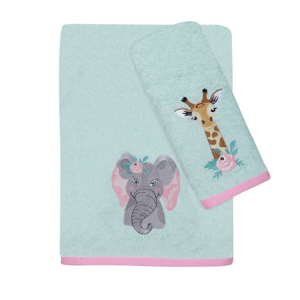 Πετσέτες Βρεφικές 4739 Σετ Κεντητές 2τμχ Baby Fun Emb Mint-Somon Das Home Σετ Πετσέτες 70x140cm