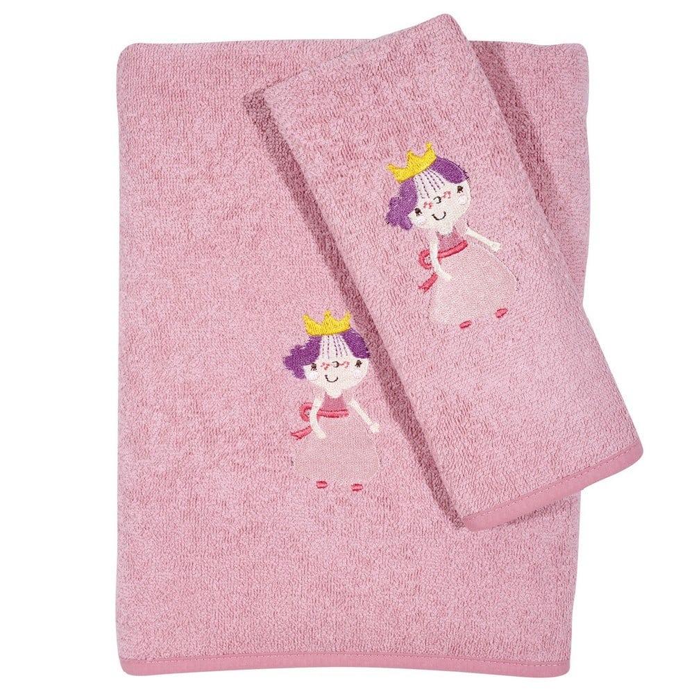 Πετσέτες Βρεφικές 6596 Κεντητές Σετ 2τμχ Baby Smile Pink Das Home Σετ Πετσέτες 70x130cm