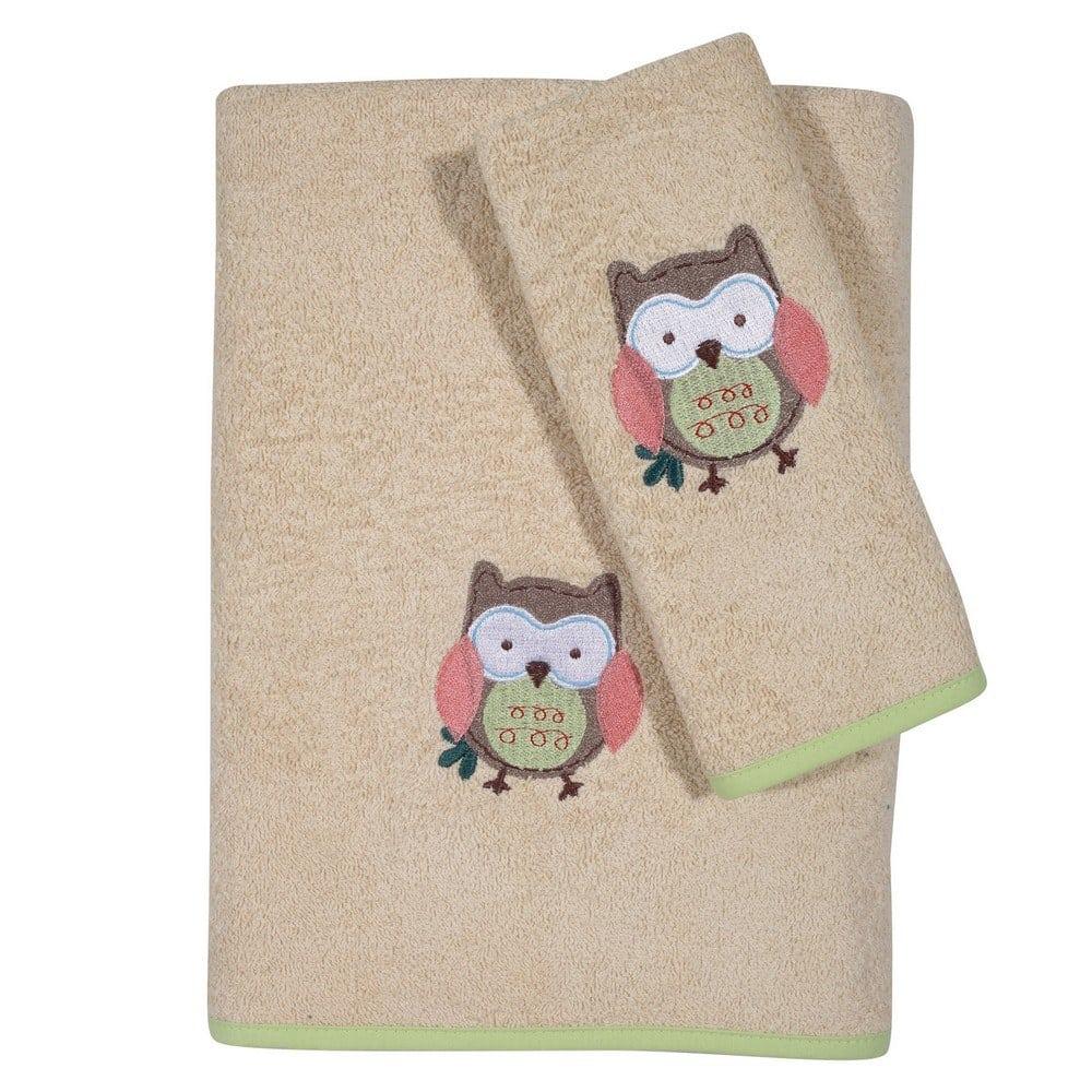 Πετσέτες Βρεφικές 6597 Κεντητές Σετ 2τμχ Baby Smile Cream Das Home Σετ Πετσέτες 70x130cm