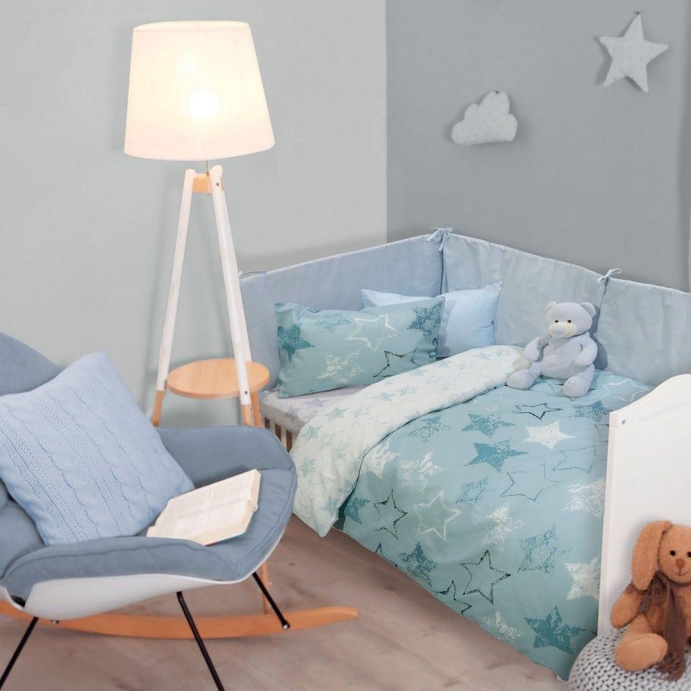 Σεντόνια Βρεφικά 4738 Σετ 3τμχ Baby Fun Light Blue-Blue-White Das Home Κούνιας 130x170cm