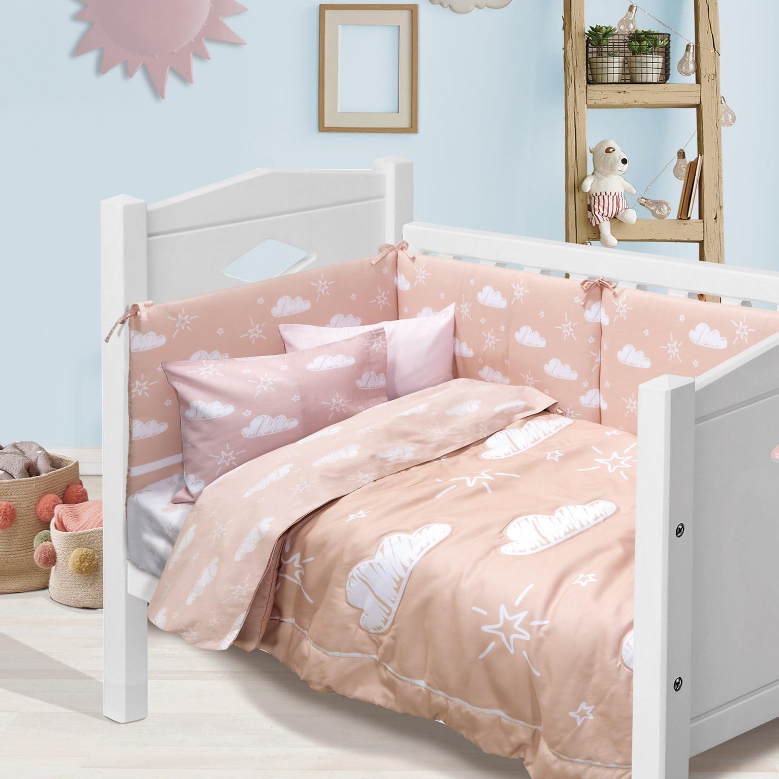 Κουβερλί Βρεφικό 4746 Baby Fun Digital Somon-White Das Home 110x150cm