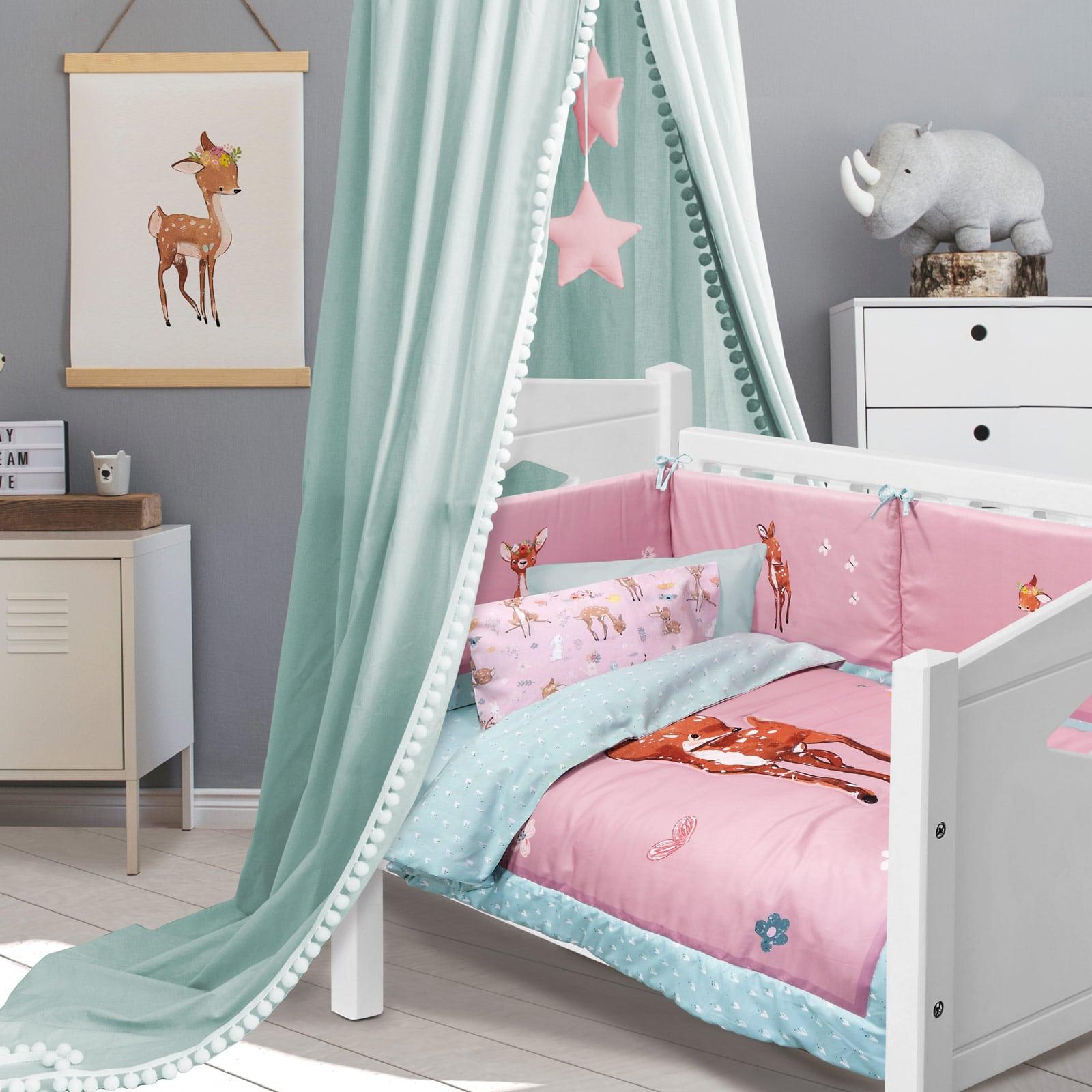 Πάντα Κούνιας 4756 Fun Baby Digital Pink-Mint Das Home 45x195cm