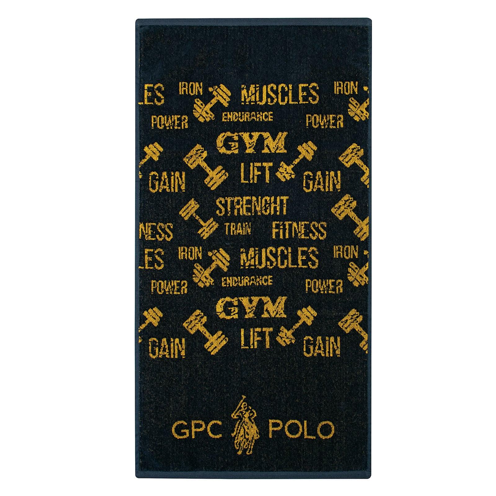 Πετσέτα Γυμναστηρίου 2640 Black-Ocher G.P.C. Γυμναστηρίου