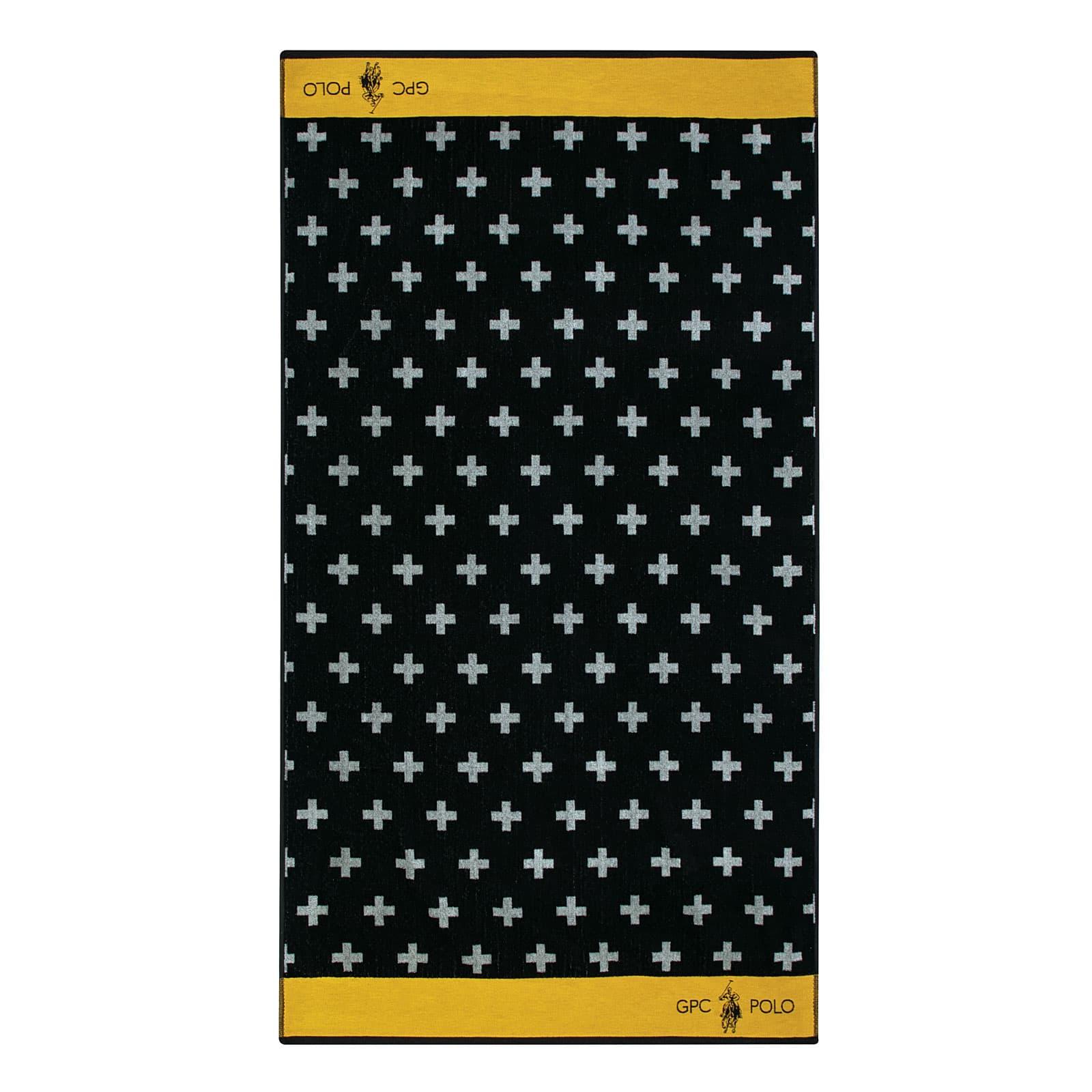 Πετσέτα Θαλάσσης 3551 Black-Ocher G.P.C. Θαλάσσης