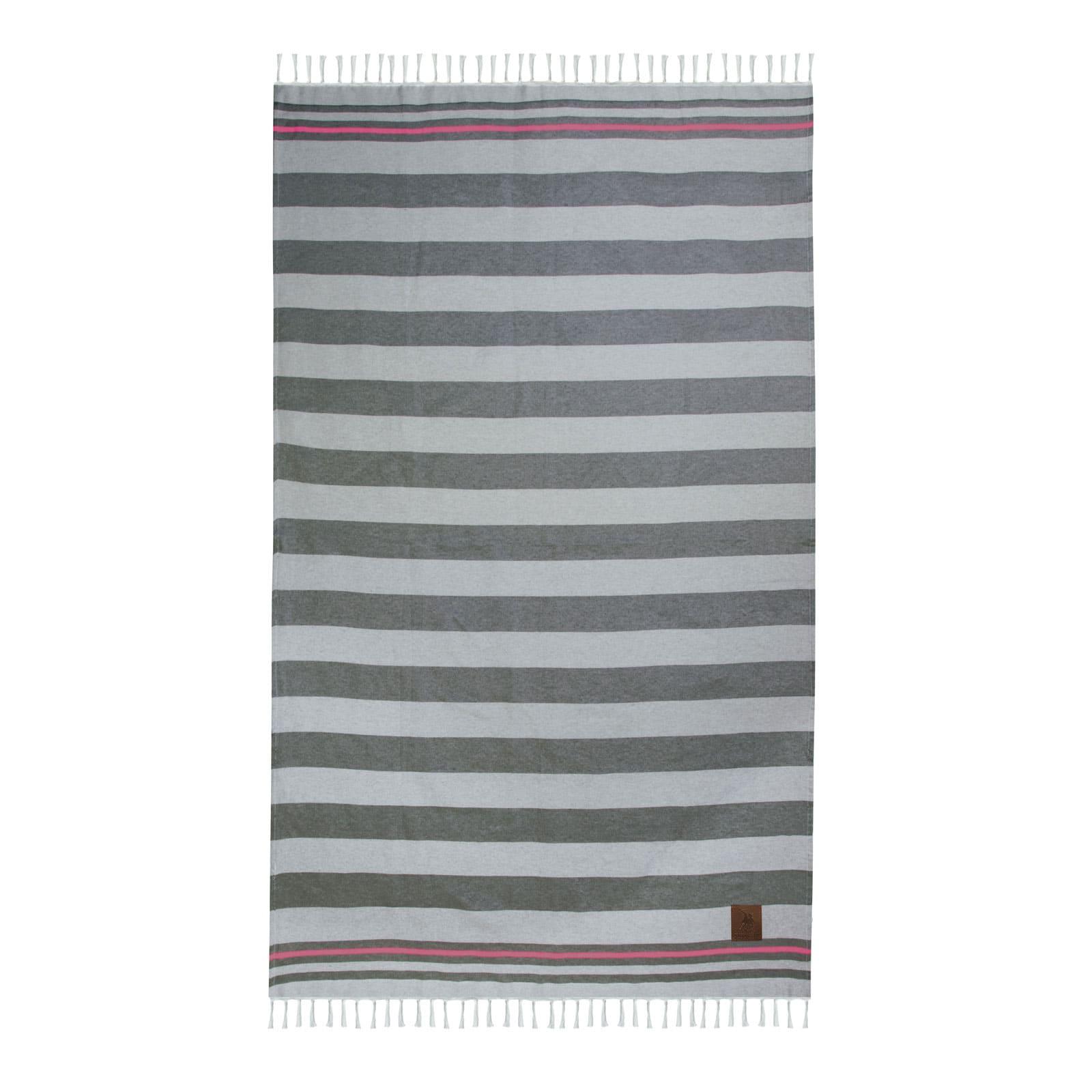 Πετσέτα Θαλάσσης 3582 Grey-Fuchsia G.P.C. Θαλάσσης