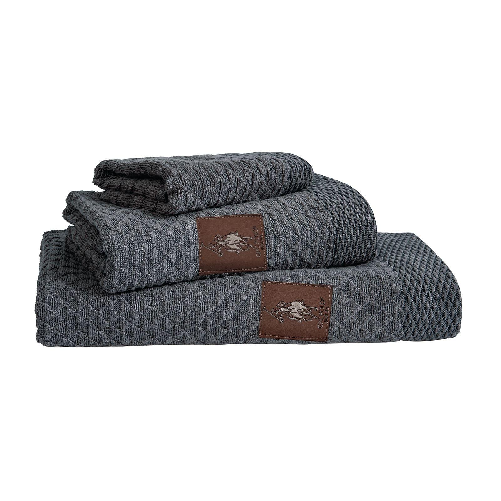 Πετσέτες 2646 Σετ 3τμχ Grey Graphite G.P.C. Σετ Πετσέτες
