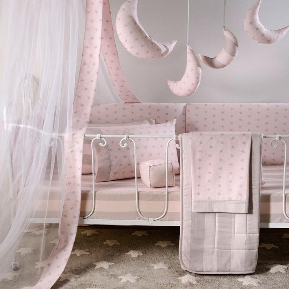 Κουβερλί Βρεφικό ΣΧ.671 Pink Down Town Κούνιας 95x145cm