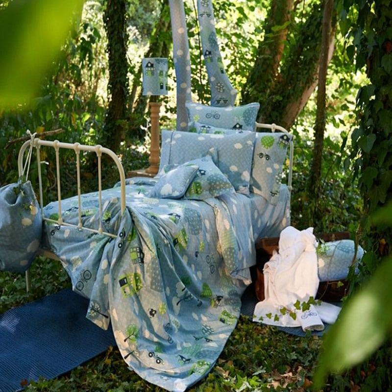 Κουβερλί Παιδικό ΣΧ.112 Σετ 2τμχ Blue-Green Down Town Μονό 170x240cm
