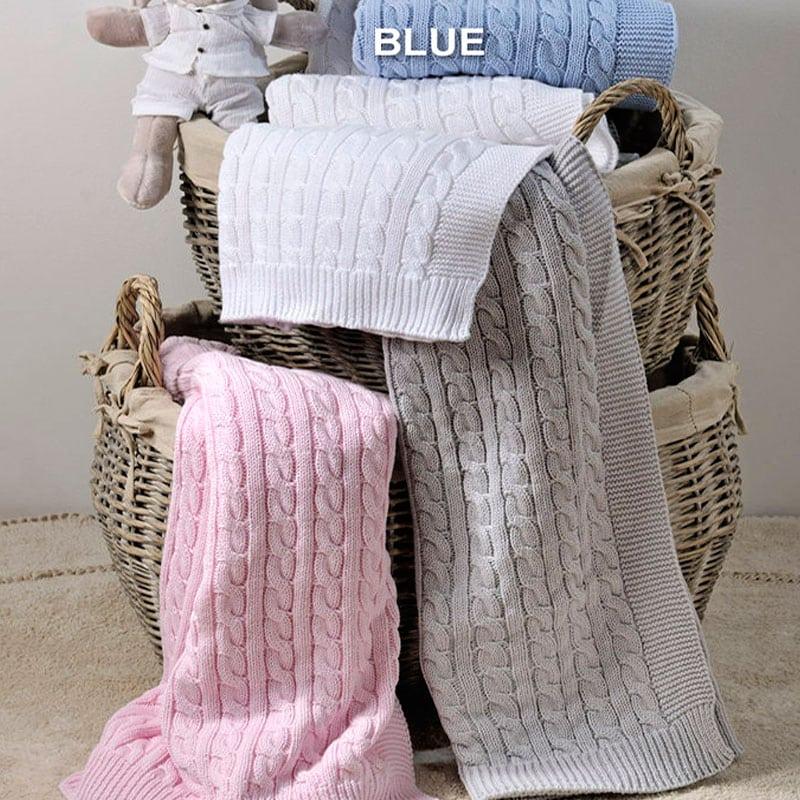 Κουβέρτα Βρεφική Reve Light Blue Down Town Κούνιας
